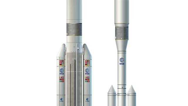So könnte Ariane 6, eine mögliche Nachfolgerin der bewährten Trägerrakete Ariane 5, aussehen.