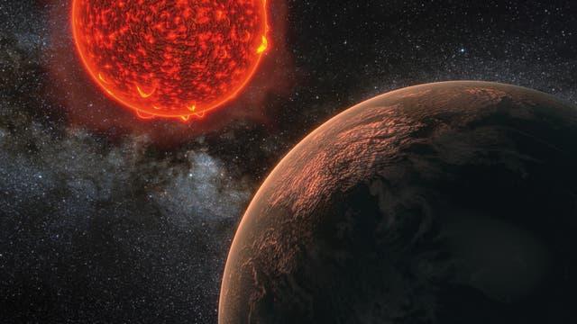Künstlerische Darstellung des Planeten von Proxima Centauri