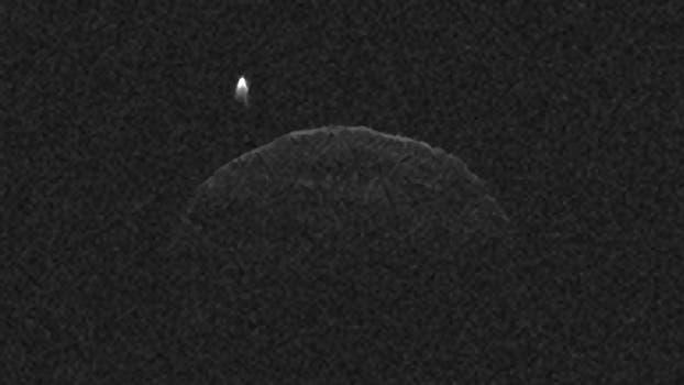 Radarbild des Asteroiden 1998 QE2