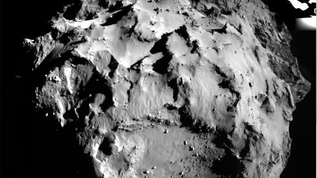 Anflugbild von Philae
