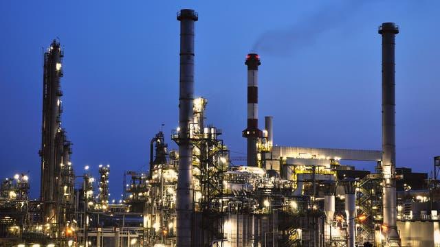 Erdölraffinerie in Schwechat bei Wien