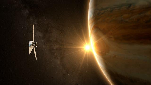 Raumsonde Juno bei Jupiter