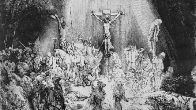 Die Drei Kreuze von Rembrandt