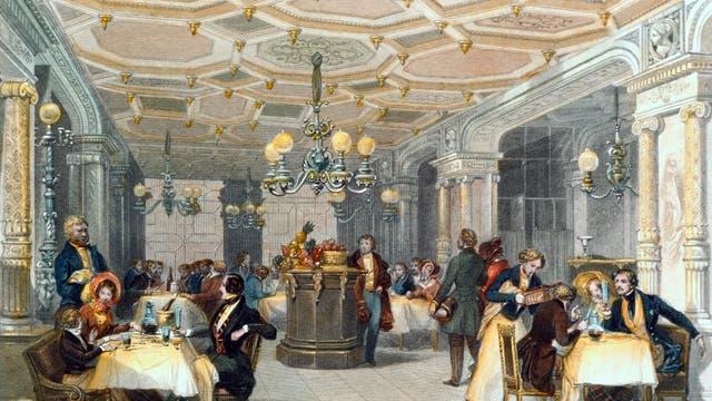 Abendessen in einem Pariser Restaurant