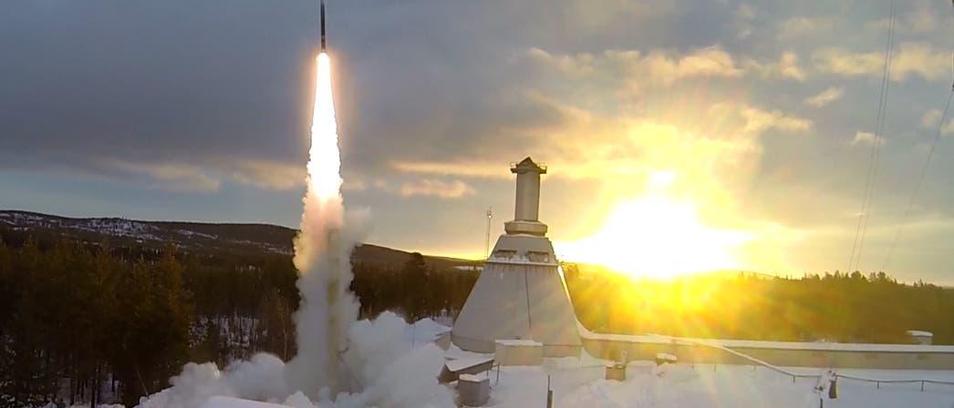 Start einer REXUS-Rakete