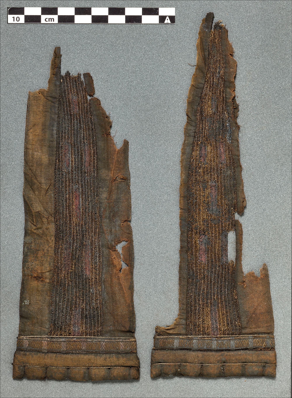 Teile des Mantels aus Biberpelz