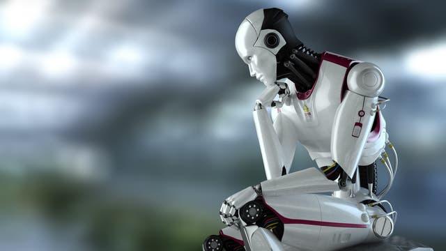 Robot nachdenklich