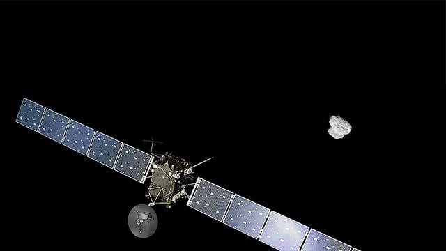 Rosetta nähert sich dem Kometen an
