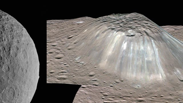 Ceres, Occator, Ahuna Mons