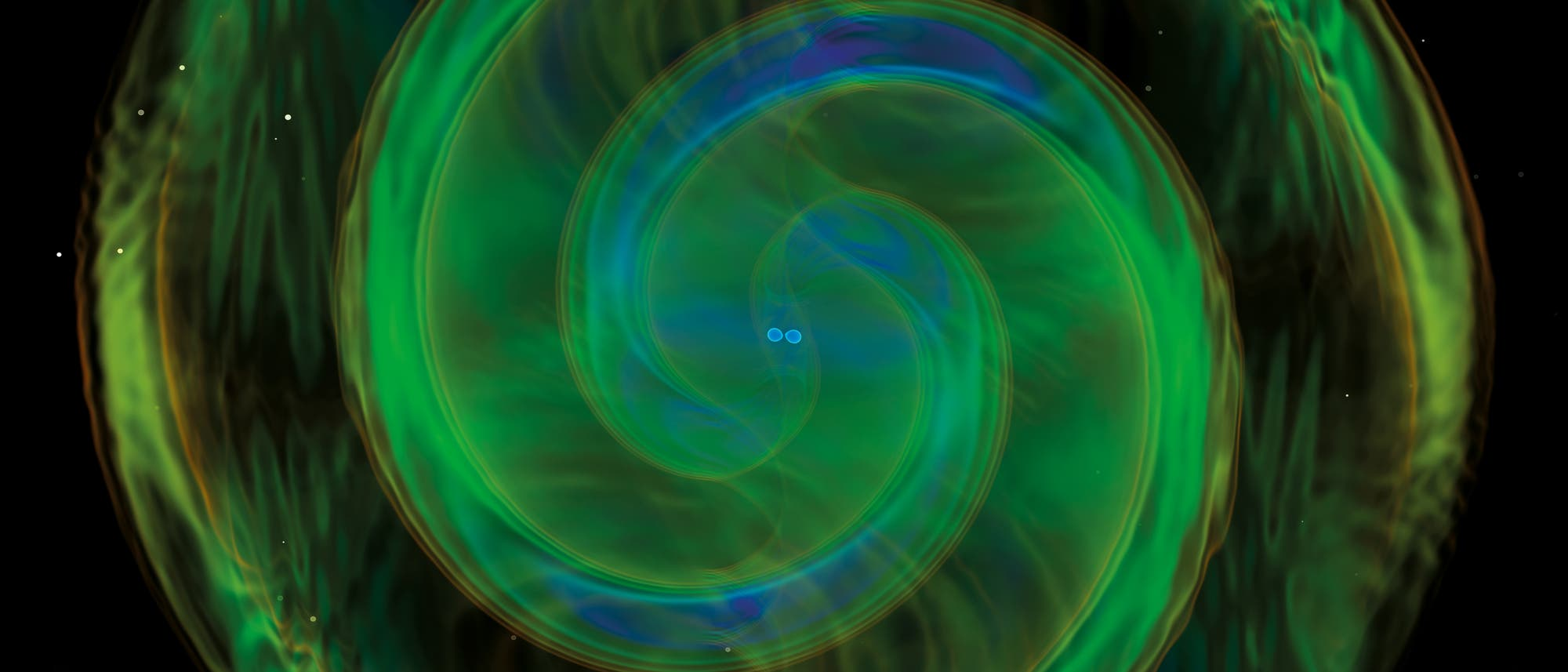 Simulation von Gravitationswellenereignis GW 190425