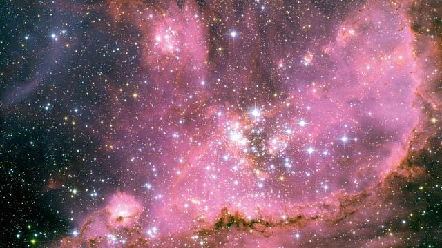 Ein offener Sternenhaufen, in dem sich Sterne mit unterschiedlichen Massen befinden.