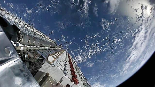 Starlink-Satelliten werden ausgesetzt