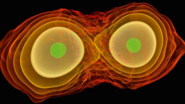 Verschmelzende Neutronensterne