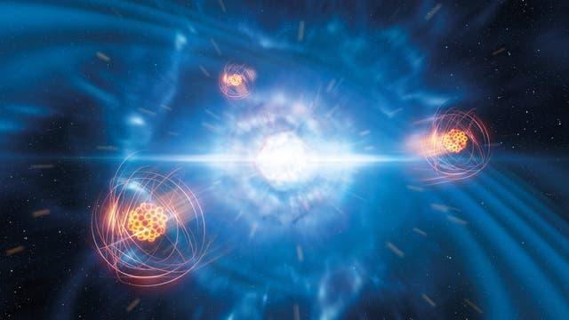 Verschmelzung zweier Neutronensterne