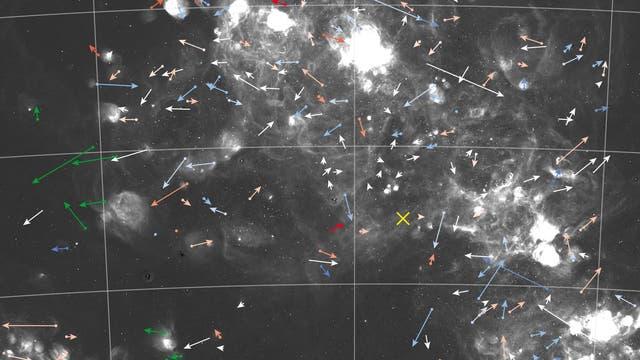 Bewegungen der Sterne in der der Kleinen Magellanschen Wolke