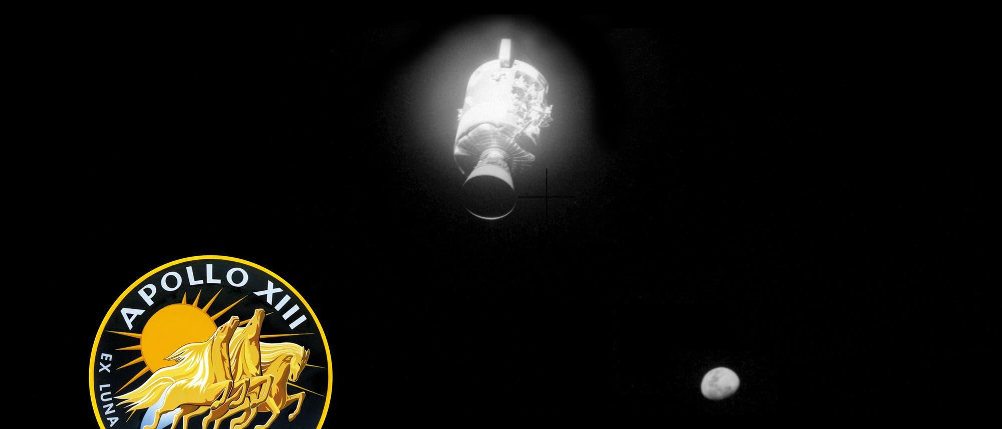 Abtrennung des beschädigten Service Moduls der Apollo 13 Mission