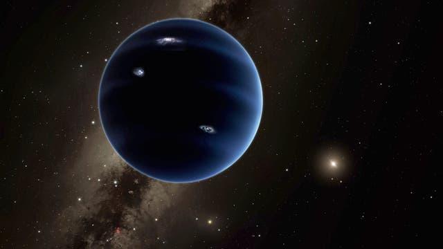 rein spekulative künstlerische Darstellung des noch unentdeckten Planeten X