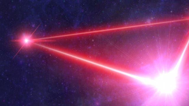 Laser-Dreieck LISA