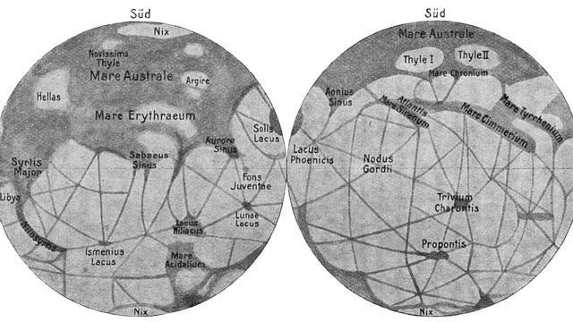 Die Marskanäle von Schiaparelli