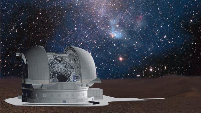 Das Extremely Large Telescope (ELT) in Chile wird 2024 mit Beobachtungen beginnen.