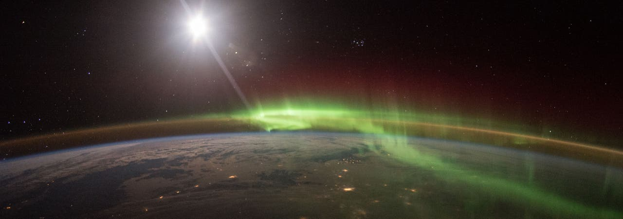 Polarlichter von der ISS betrachtet