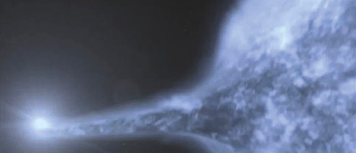 Ein Doppelsystem aus einem Weißen Zwerg und einem heißen Unterzwerg