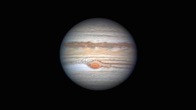 Großer roter Fleck auf Jupiter