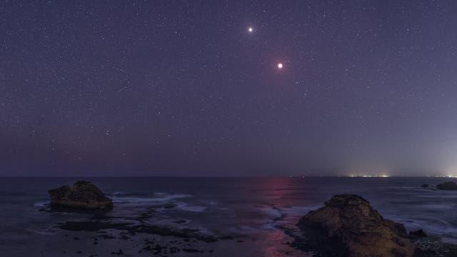 TWAN-Bild Mond und Mars