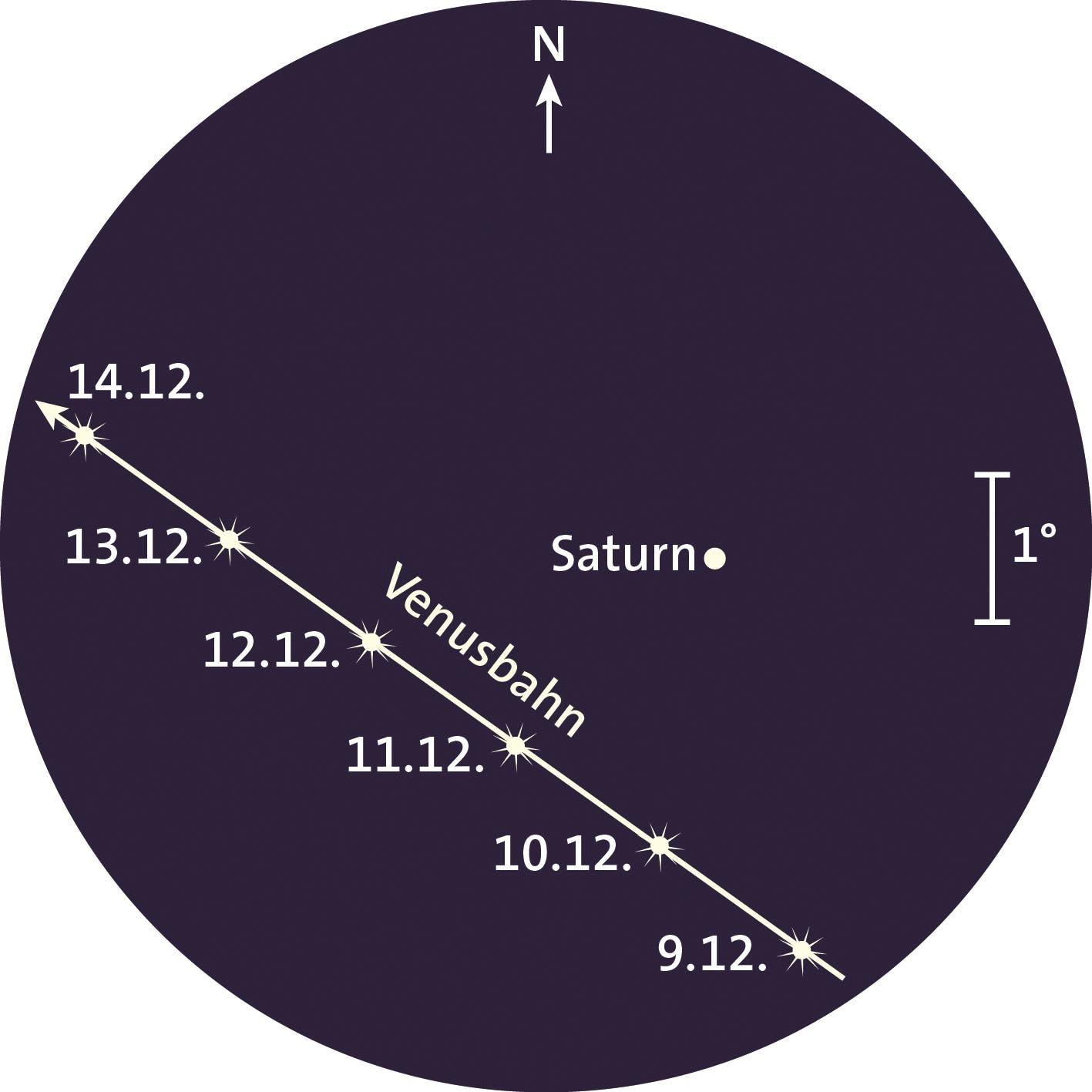 Venusbahn und Saturn
