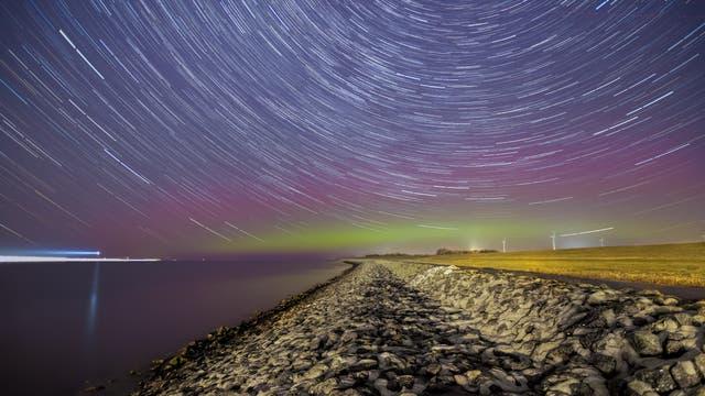 Polarlichter nach einem solaren Flare