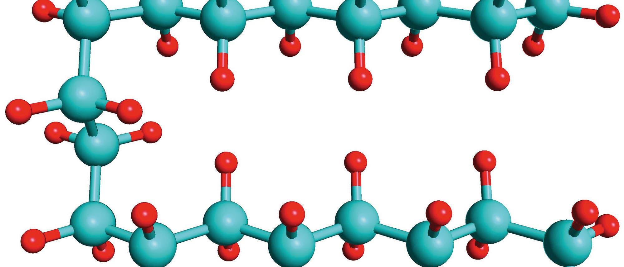 Haarnadelförmig gebogene Kohlenwasserstoffkette