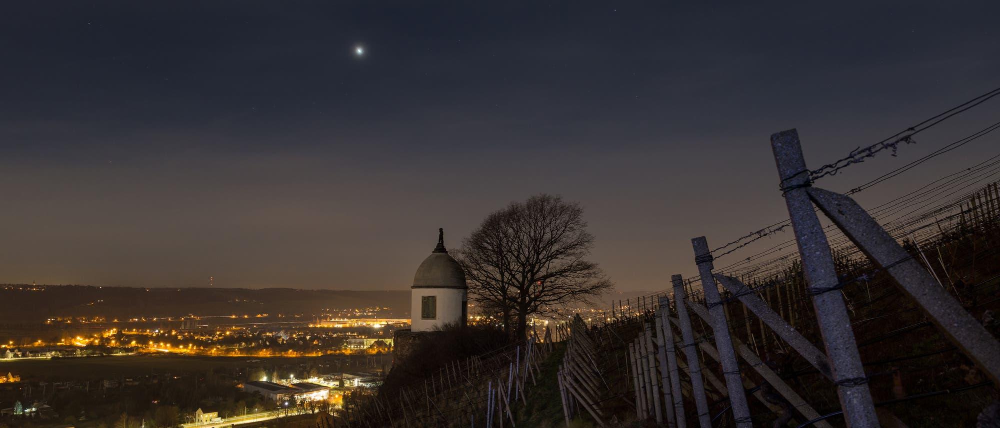 Venus über Radebeul