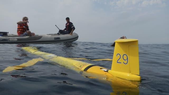 Aussetzen eines Unterwassergleiters