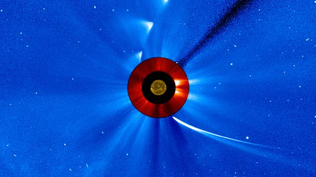 Flugbahn von Komet ISON um die Sonne