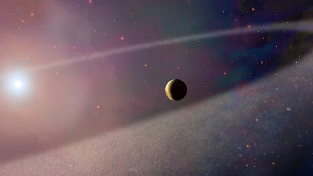 Komet nähert sich Weißem Zwerg