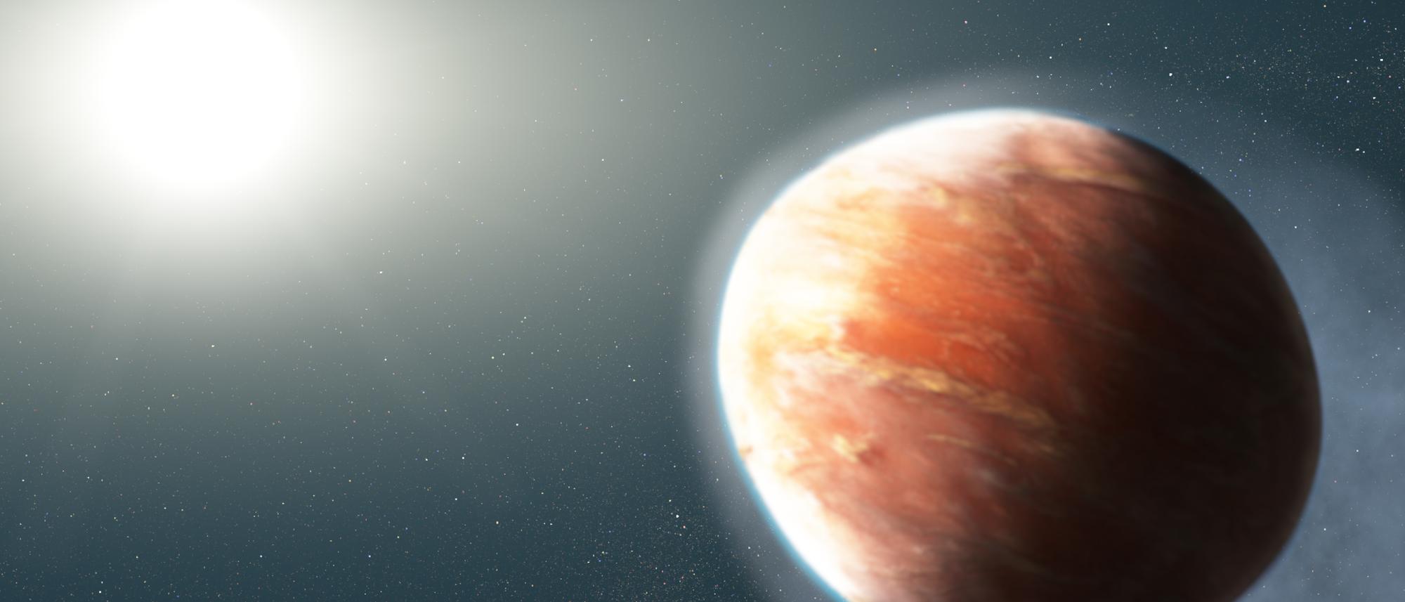 Exoplanet verliert Gashülle (künstlerische Darstellung)