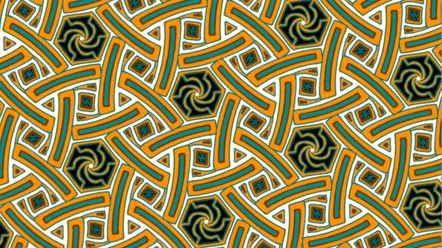 Euklidisches Ornament der Gruppe p6