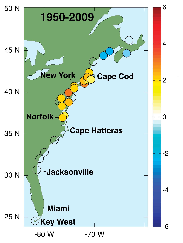 Meeresspiegelanstieg vor der Ostküste der USA
