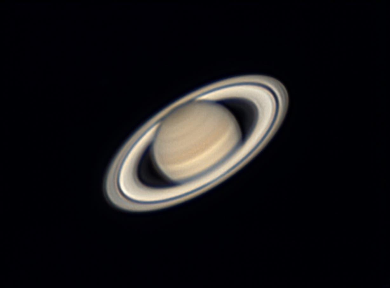 Der Ringplanet Saturn bei voller Ringöffnung