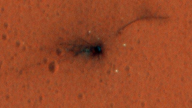 Die Absturzstelle des ESA-Marslanders Schiaparelli