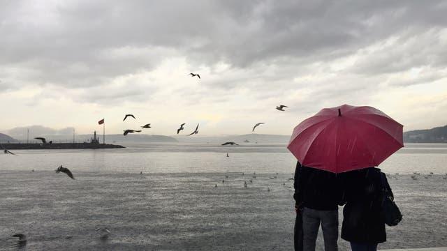 Schmuddelwetter am Meer