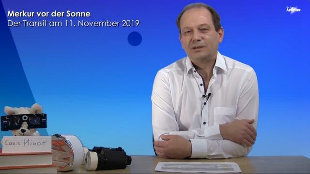 Astronom Klaus Jäger erläutert den Merkurtransit