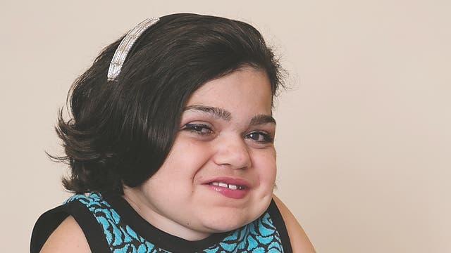 Die 13-jährige Michelle Hopkins leidet an der lysosomalen Speicherkrankheit MPS I. Zu den Symptomen gehören Skelett- und Organfehlbildungen sowie Minderwuchs.