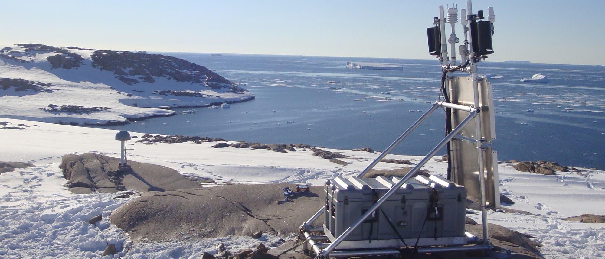 Messstation in der Antarktis