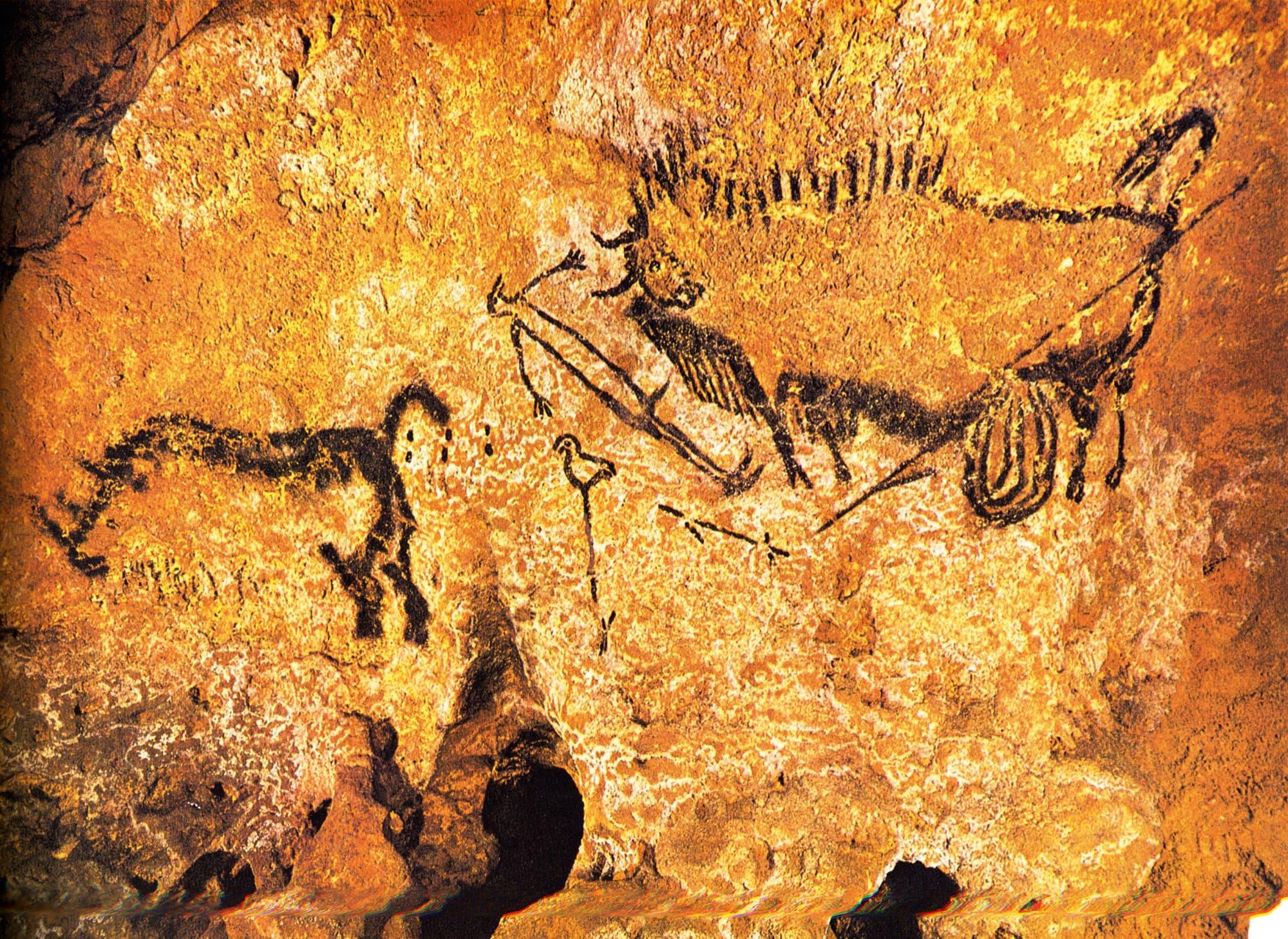 Brunnenszene in der Höhle von Lascaux