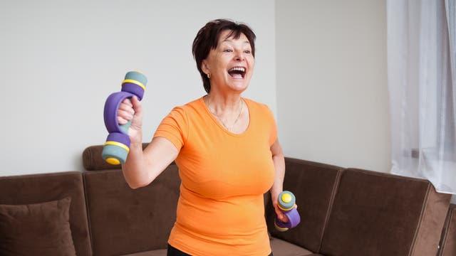 Fitness vor dem Computer