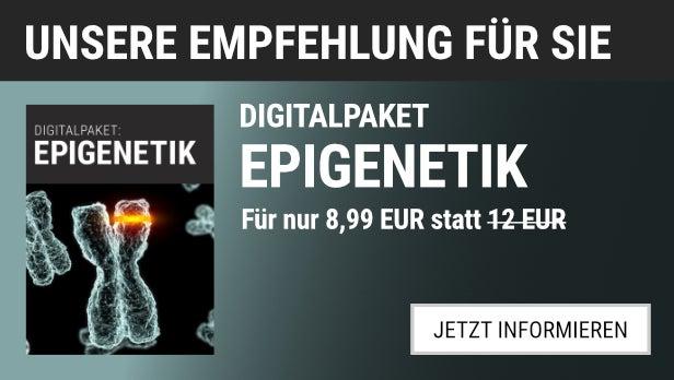 Unsere Empfehlung: Das Digitalpaket Epigenetik für 8,99 EUR statt 12,00 EUR