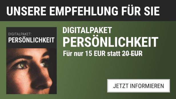 Digitalpaket Persönlichkeit für 15,00 EUR statt 20,00 EUR