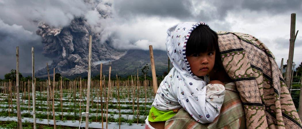 Ausbruch am Vulkan Sinabung