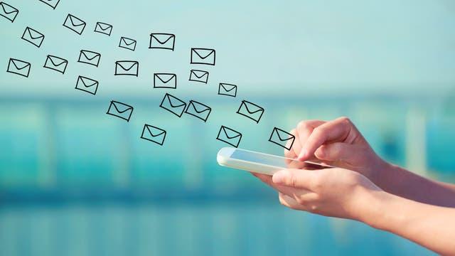 Smartphone verschckt E-Mails